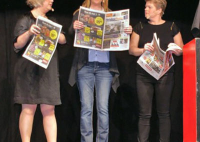 Anette, Tina & Tina som den lokale presse