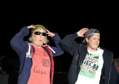 Tina & Anette som rappere