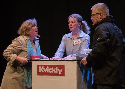Tina V og Jan Erik er Grethe & Preben hos Tina B i Kvickly